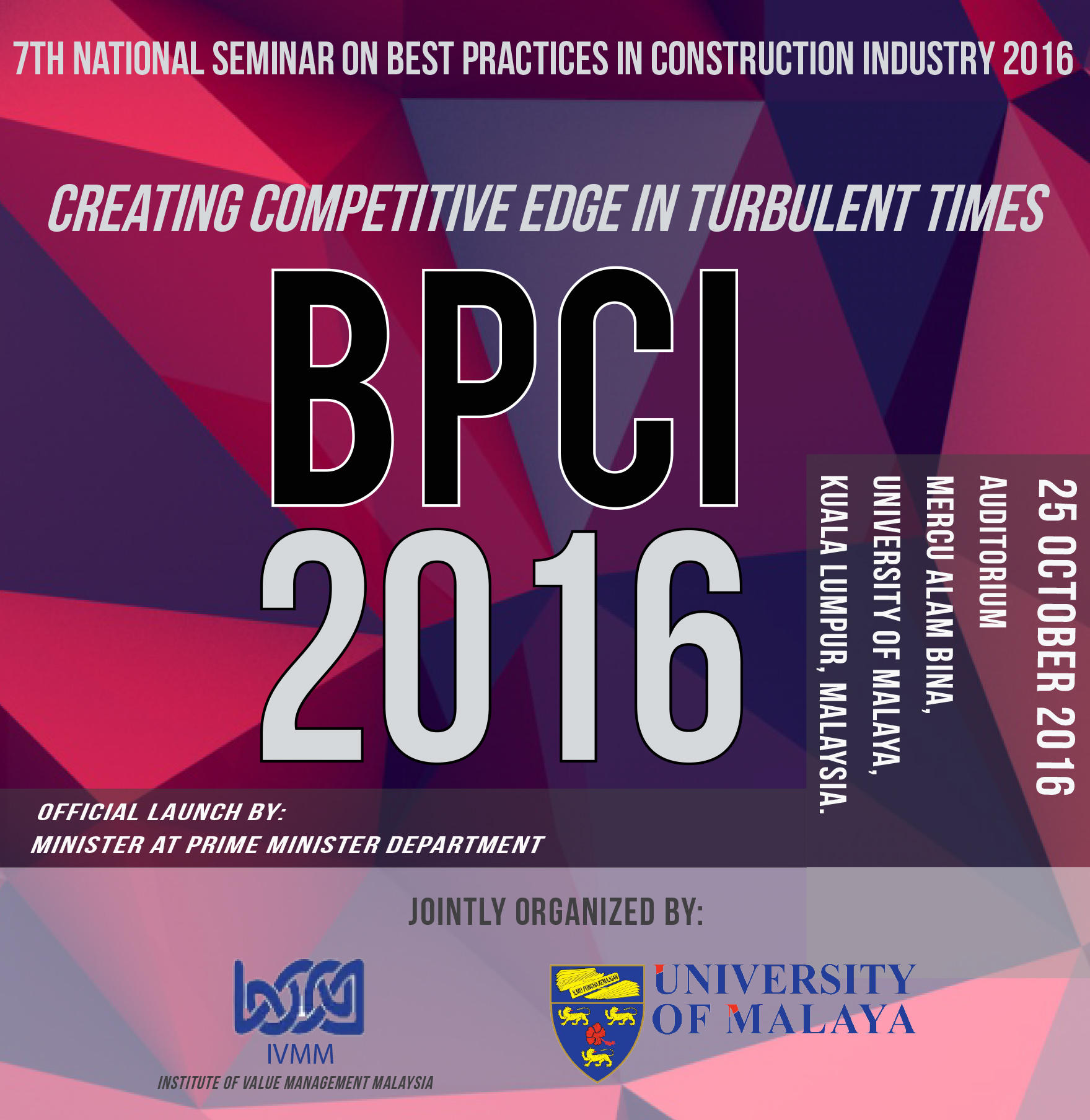 Best Practices in Construction Industry Seminar 2016